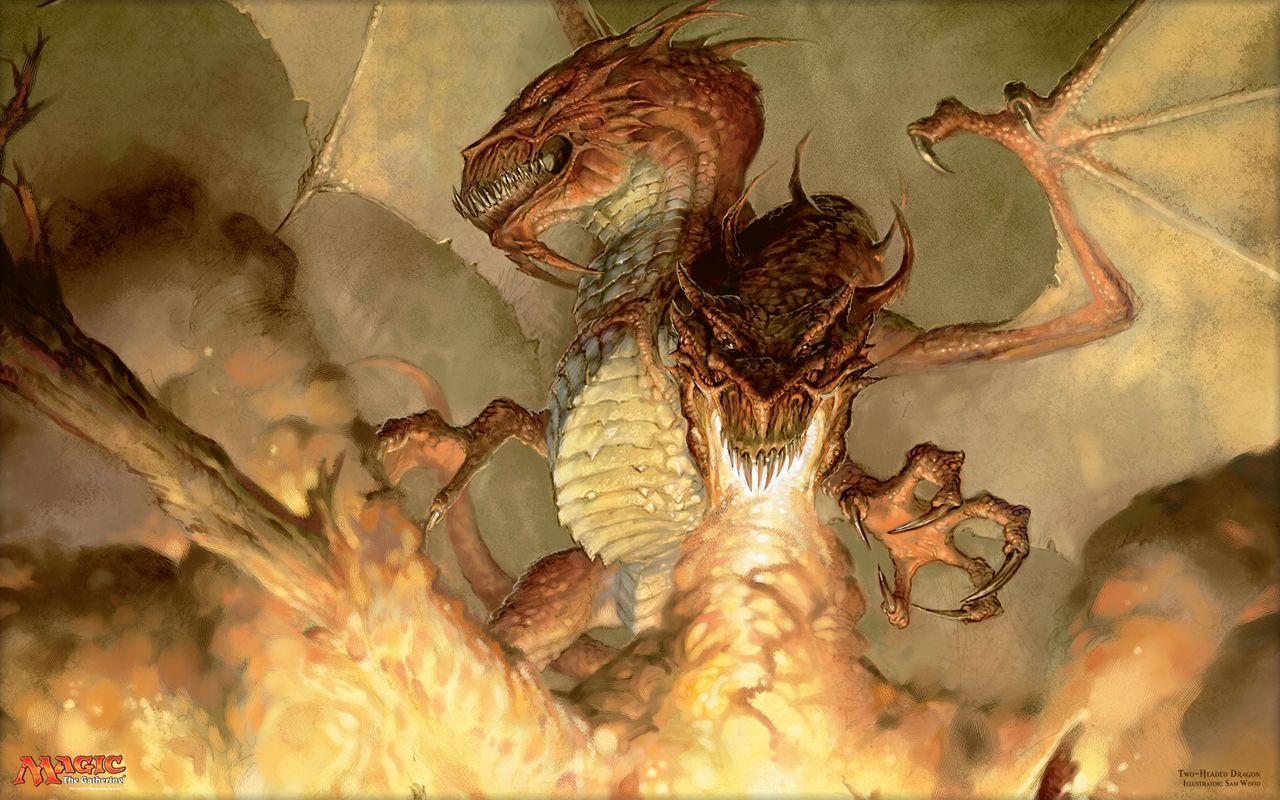 双頭のドラゴン (Two-Headed Dragon)の壁紙