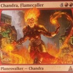ゲートウォッチの誓いの新チャンドラ「Chandra, Flamecaller」が公開!速攻持ちエレメンタル製造&手札交換&全クリーチャーに払った忠誠値分のダメージ!※日本語版カード「炎呼び、チャンドラ」が公開!