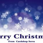 カードショップ・セラのMTGシンボルを散りばめたクリスマスバナーが美しい!
