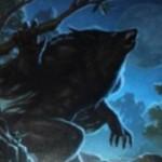 緑アンコの狼男「Krallenhorde Howler(イニストラードを覆う影)」が非公式スポイラーにて公開!クリーチャー呪文のコストを軽量化!※日本語名は「爪の群れの咆哮者」!