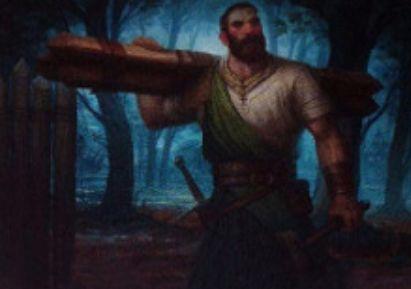 緑コモンの人間「Stoic Builder」(イニストラードを覆う影)