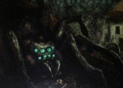 緑コモンの蜘蛛「Watcher in the Web」(イニストラードを覆う影)