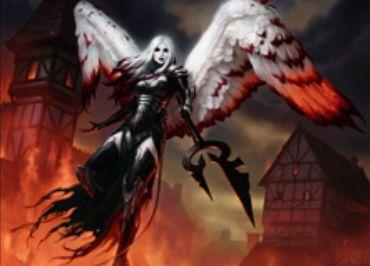 赤の伝説神話天使「浄化の天使、アヴァシン(イニストラードを覆う影)」