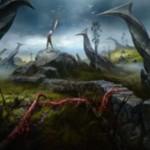 イニストラードを覆う影のコモン土地「ねじれ地帯」が公開!マナ&生贄でライブラリーから基本土地をサーチ!