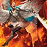 赤のエントリーレア「Flameblade Angel」が公開!発生源が自分か自分のパーマネントにダメージを与えるたび、そのコントローラーにダメージを飛ばす!※日本語名は「炎刃の天使」!