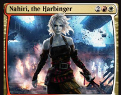 白赤神話のPWナヒリ「Nahiri, the Harbinger」(イニストラードを覆う影)