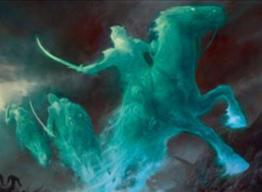 イニストラードを覆う影の白レア騎士「ドラグスコルの騎兵」