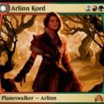 赤緑の両面神話PW「アーリン・コード」がイニストラードを覆う影に収録!自身の能力でトークンを生産しつつ変身し「月の抱擁、アーリン」に!
