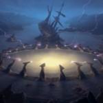 イニストラードを覆う影のレア土地「Drownyard Temple」が公開!自身の効果で墓地から戦場に舞い戻る!※日本語名は「溺墓の寺院」!