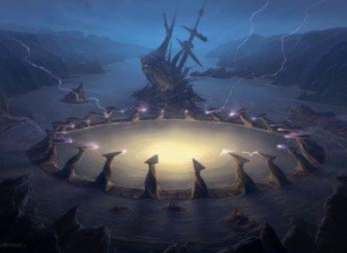 イニストラードを覆う影のレア土地「Drownyard Temple」