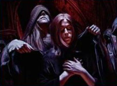 イニストラードを覆う影の青レアソーサリー「教団の歓迎」
