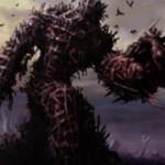 黒レアのゾンビ「戦墓の巨人(イニストラードを覆う影)」が公開!墓地のゾンビ分の+1/+1カウンターが置かれた状態で降臨し、以降はゾンビ呪文を唱えるたびにゾンビトークンを生産!
