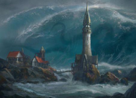 SOI収録の青レアインスタント「Engulf the Shore」(イニストラードを覆う影)