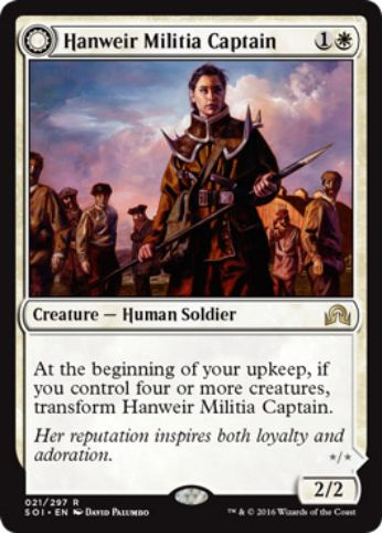 Hanweir Militia Captain(イニストラードを覆う影)