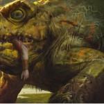 SOI収録の伝説神話カエル「ギトラグの怪物」が公開!5マナ6/6「接死」だが、毎ターン土地を生贄に!一方で追加の土地プレイと土地が墓地に置かれるたびにドローする効果も!
