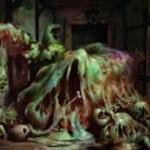 イニストラードを覆う影にレアで収録される緑のウーズが公開!「昂揚」状態ならば攻撃のたびに攻撃状態のウーズ・トークンを生産!※日本語名は「容赦ない泥塊」!