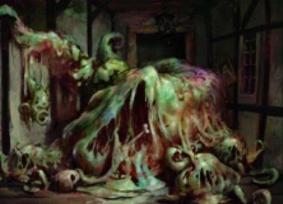 イニストラードを覆う影にレアで収録される緑のウーズ(イニストラードを覆う影)