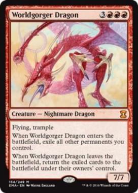 世界喰らいのドラゴン(Worldgorger Dragon)(エターナルマスターズ)