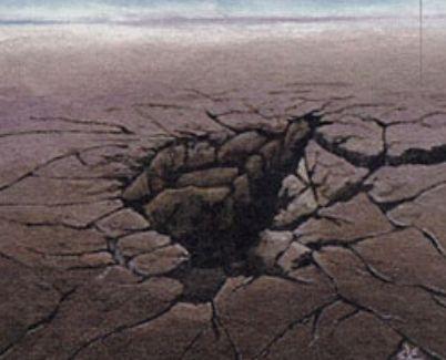 エターナルマスターズにて「Sinkhole」がレア&新規イラストで再録!MTG最軽量のランデス!