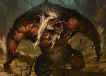 異界月に収録の伝説の狼男「揺るぎない頭目、ウルリッチ」が公開!変身時に非狼男のクリーチャーと格闘!