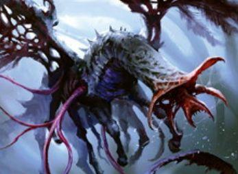 異界月にコモン収録のエルドラージ・ヒポグリフ「不憫なグリフ」が公開!新能力「現出」によって軽減コストで戦場に降臨!