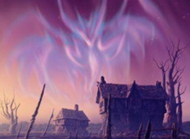 異界月に収録の反射エルドラージ「エムラクールのオーロラ」が公開!全プレイヤーのライフ10点以下を条件に「謎の石の断片」が変身した姿!飛行&接死&攻撃時に全対戦相手を3点ライフロス!