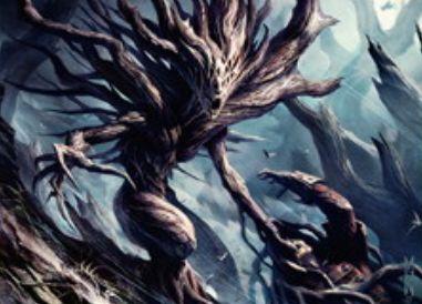 異界月にアンコ収録のドライアド「節くれ木のドライアド」が公開!昂揚すれば1マナ3/3「接死」の高コスパクリーチャーに変貌!