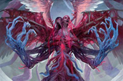 ギセラとブルーナが合体した神話エルドラージ天使「悪夢の声、ブリセラ」が異界月に収録!飛行&先制攻撃&警戒&絆魂&相手の3マナ以下の呪文を唱えられない状態に!