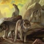 異界月に収録の赤レア狼「Assembled Alphas」が公開!ブロックしたりブロックされたりすると3点ダメージをクリーチャーとプレイヤーに飛ばす!※日本語名は「集合した頭目」!