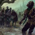 異界月にレア収録の黒ゾンビ「Noosegraf Mob」が公開!呪文が唱えられるたびにサイズを減らしつつゾンビトークンを生産!※日本語名は「絞墓の群衆」!