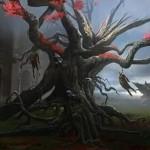 異界月に収録される黒神話植物「Tree of Perdition」が公開!相手のライフとこのカードのタフネスを交換!※日本語名は「地獄の樹」!