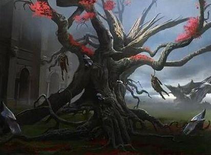 異界月に収録される黒神話植物「Tree of Perdition」が公開!相手のライフとこのカードのタフネスを交換!