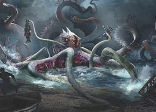 異界月に収録のレアタコエルドラージ「Elder Deep-Fiend」が公開!現出で最大青2マナにコスト軽減&瞬速&CIPで4つのパーマネントをタップ!