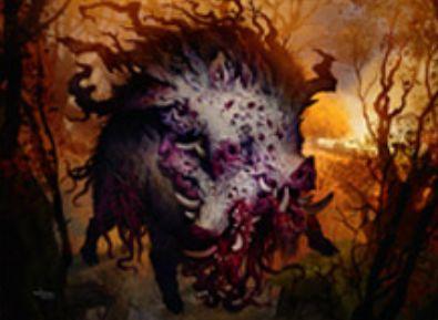 異界月の神話エルドラージ猪「Decimator of Pronvinces」が公開!現出でコスト軽減&速攻&トランプル&唱えた時点で自軍を全体強化してトランプルも付与!