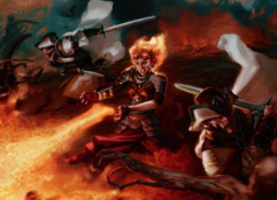 チャンドラが描かれたソーサリー「United Resistance」が異界月にレア収録!増呪で「手札交換」「クリーチャー火力」「プレイヤー火力」を選択発動!