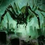 異界月に収録の伝説神話蜘蛛「Ishkanah, Grafwidow」が公開!到達&昂揚状態でCIPすると3体の蜘蛛トークン生産&蜘蛛の数だけライフロスさせる起動型能力!※日本語名は「墓後家蜘蛛、イシュカナ」!