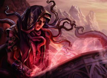 赤レアの吸血鬼ホラー「流城の密教信者」が異界月に収録!トランプル&マッドネス&プレイヤーにダメージを通せばライブラリートップを追放しプレイ可能に!