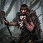 異界月に収録の神話人間戦士「Grim Flayer」が公開!2マナ2/2トランプル&プレイヤーにダメージを通すとライブラリートップ3枚を選んで墓地送り&昂揚でPTが2ずつ増強!※日本語名は「残忍な剥ぎ取り」!