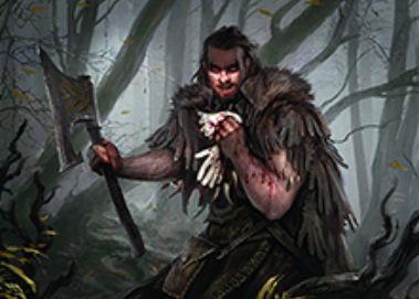 異界月に収録の神話人間戦士「Grim Flayer」が公開!2マナ2/2トランプル&プレイヤーにダメージを通すとライブラリートップ3枚を選んで墓地送り&昂揚でPTが2ずつ増強!