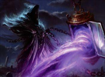 アゾリウスカラーのレアスピリット「Spell Queller」が異界月に収録!瞬速&飛行&CIPで4マナ以下の呪文を追放&戦場を離れると追放した呪文のオーナーに追放呪文の無料プレイ権を与える!