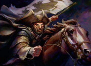 セレズニアカラーのレア騎士「優雅な鷺の勇者」が異界月に収録!4マナ3/3で瞬速と絆魂を持ち、CIPで自軍の他の人間全体に+1/+1修正と絆魂の付与も!