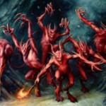 異界月に収録のレアデビル「性急な悪魔」が公開!防御側プレイヤーのクリーチャー1体にブロックを強制できる「ボール・ライトニング」!