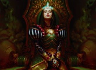 マルドゥカラーの伝説神話「マルチェッサ女王(王位争奪)」が公開!接死&速攻&CIPで「統治者」を獲得&相手が「統治者」なら毎アップキープに暗殺者トークンを生産!