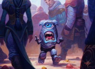青コモン「嘲笑うホムンクルス」が「王位争奪」に収録!新能力「使嗾」でクリーチャー1体に自分以外のプレイヤーへの攻撃を強制!