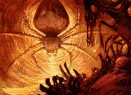 プレインチェイス「ドラゴンの巣の蜘蛛」がMTG「王位争奪」のレア枠で再録!対戦相手の呪文キャストに反応して蜘蛛トークンを産むグルール蜘蛛!