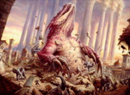 赤神話のX火力「Subterranean Tremors(王位争奪)」が公開!飛行を持たないクリーチャー全体にX点のダメージ&Xが4以上ならば全アーティファクトを破壊&Xが8以上ならば8/8のトカゲトークン生産!