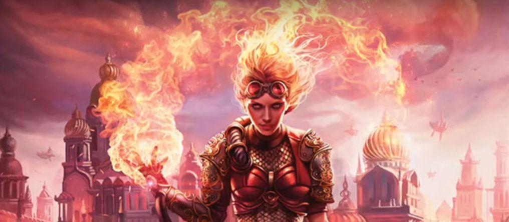 カラデシュ収録の新チャンドラ「Chandra, Torch of Defiance」のフルアート・イラストが公開!