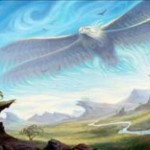 白レアの鳥「Aetherstorm Roc(カラデシュ)」が公開!クリーチャーが戦場に出るたび「エネルギー」を獲得し、攻撃時に2つのエネルギーを支払えば+1/+1カウンターを獲得しつつクリーチャー1体をタップする!※日本語名は「霊気嵐のロック」!