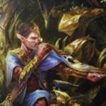 緑レアのエルフ工匠「Cultivator of Blades(カラデシュ)」が公開!5マナ1/1「製造2」&アタック時、他の攻撃クリーチャーに自身のパワー相当のPT修正を与える!