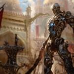 カラデシュ収録の黒神話構築物「害悪の機械巨人」が公開!CIPでクリーチャーを破壊し、破壊されたクリーチャーのタフネスに等しいライフを回復!